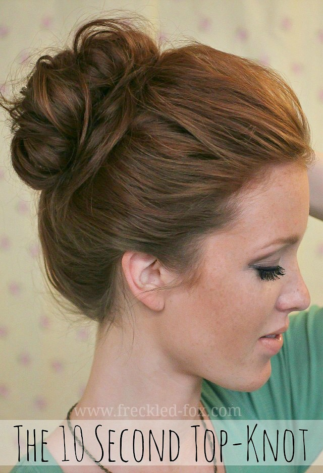 Hairstyles For Long Hair Knots : ... Freckled Fox: The Basics Hair Week, Tutorial #4: The 10 Sec Top...