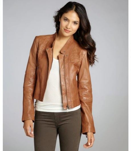 Womens Brown Retro Pointed Collar Faux Leather Jacket ...