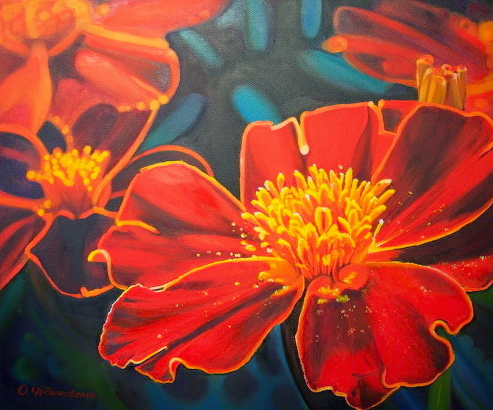 Imágenes Arte Pinturas: Ideas Para Pintar Cuadros de Flores ...