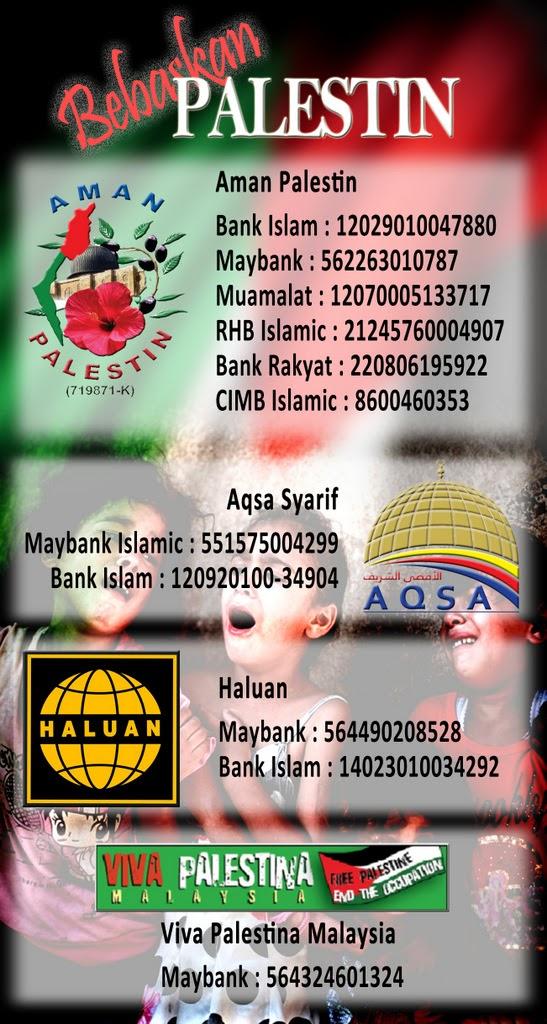 Gaza Menanti Sumbangan Anda