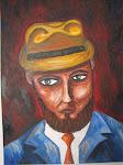 Hombre con sombrero amarillo