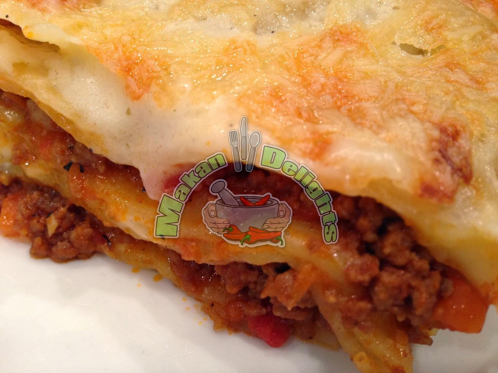 Makan Delights: Lasagna alla Bolognese