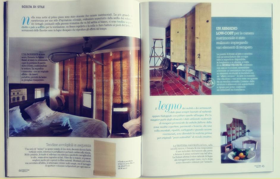 Wnętrza w rustykalnym domu w magazynie cose di casa
