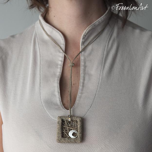 Collana Fossalon Art indossata