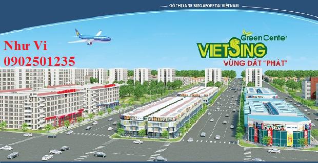 Dat nen VSIP 1 – Viet Sing. Khu do thi Viet Sing - VSIP 1 tại Thuận An, Bình Dương.
