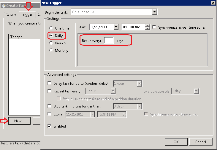 Create Schedule Task to run Powershell Script