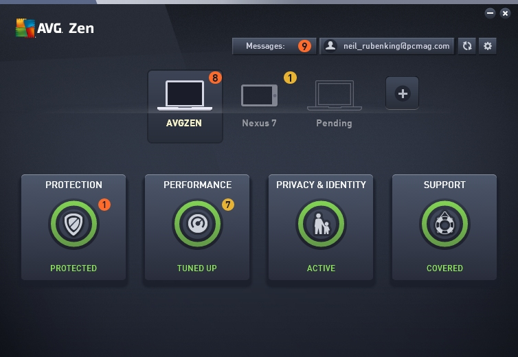 AVG Internet Security 2015 new screenshot