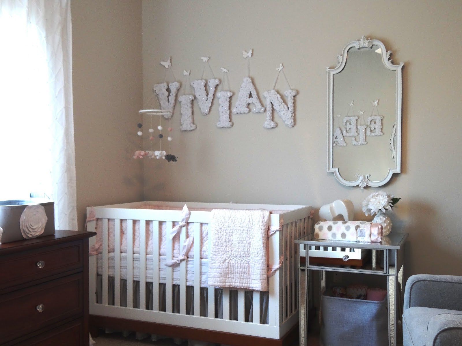 Twin Girls Elegant Pink Amp Grey Elephant Nursery