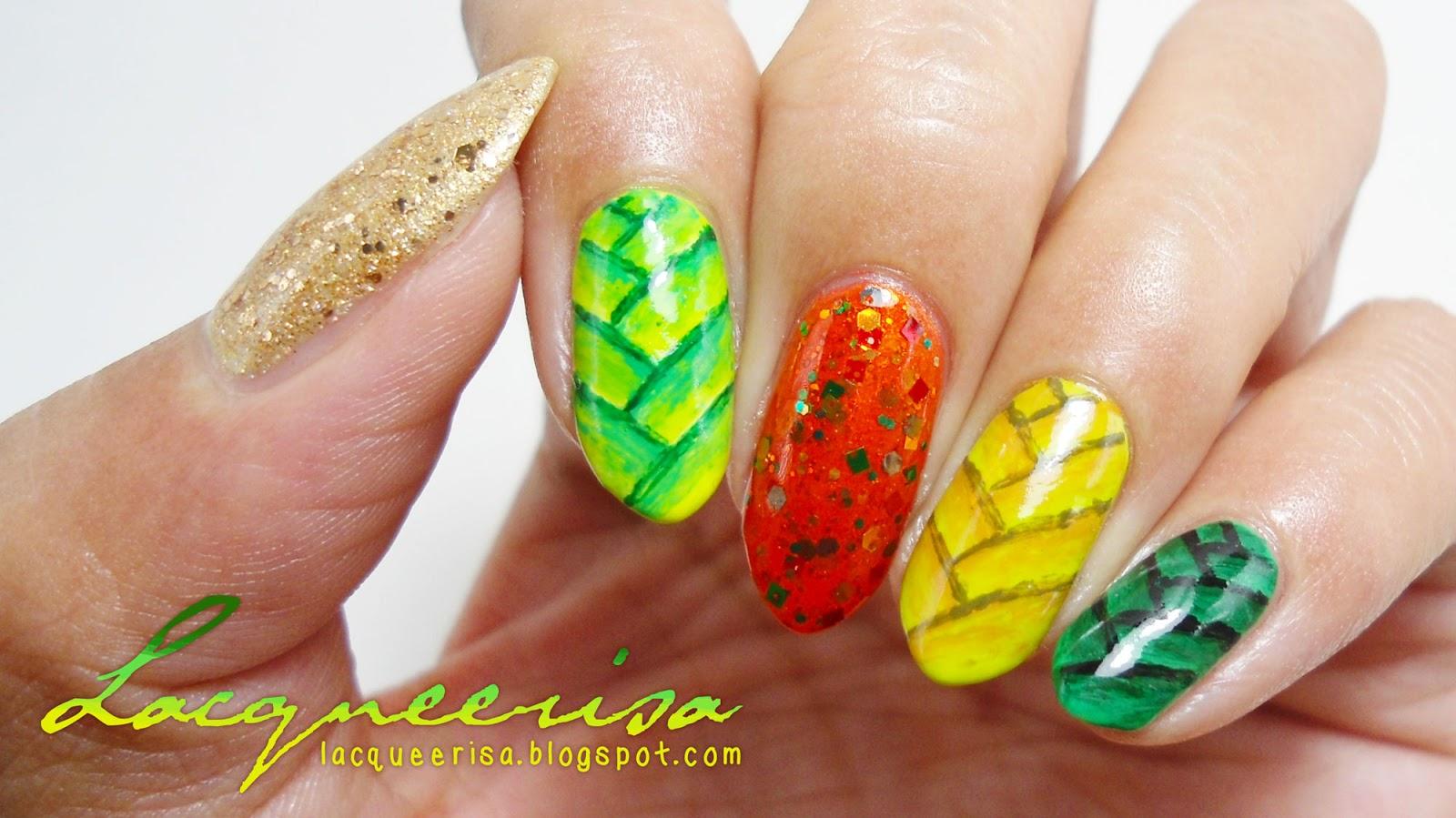 Ketupat Nails lacqueerisa.blogspot.com