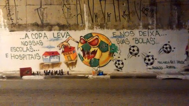 Brazilian Anti-Fifa Street Art Expresses Outrage Over World Cup