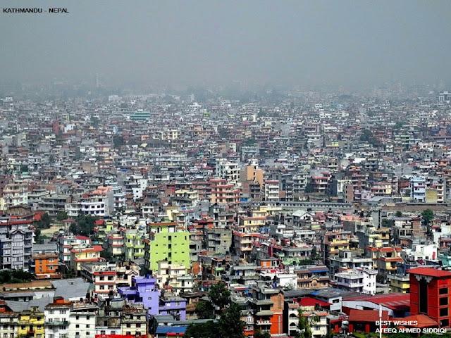 நேபாளம்-அழகான படங்கள்.... Nepal+-+Ariel+view+of+Kathmandu