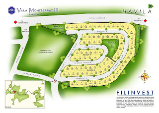 Villa Montserrat Taytay at Havila Site Development Map