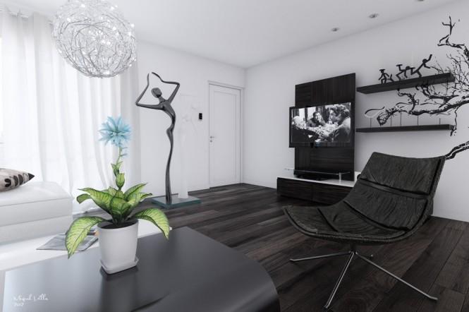 desain interior putih modern