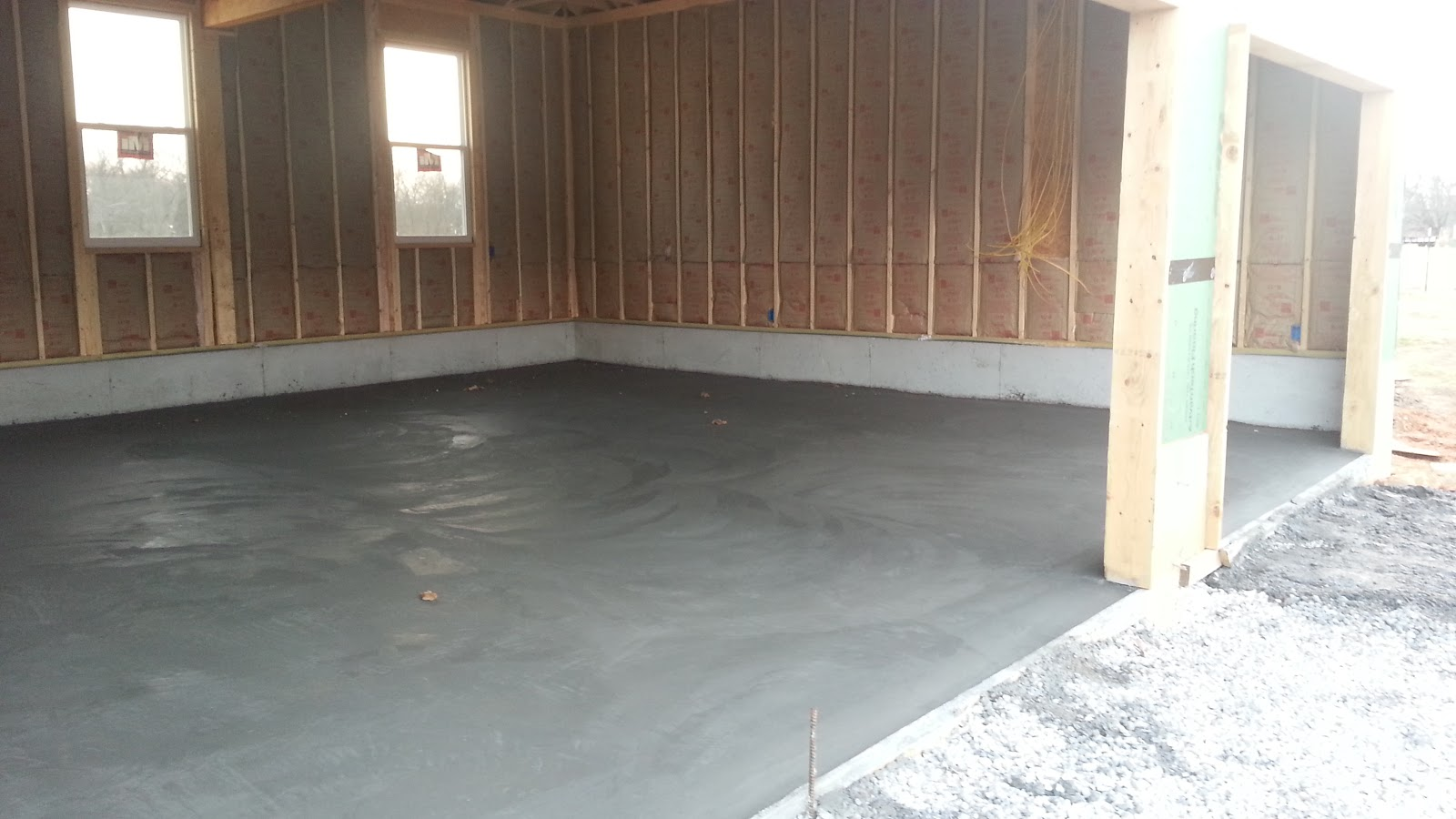 Insulated Concrete Forms Tf Systems House Garage Floor Is