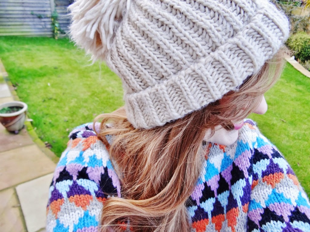 knitted wool hat vintage