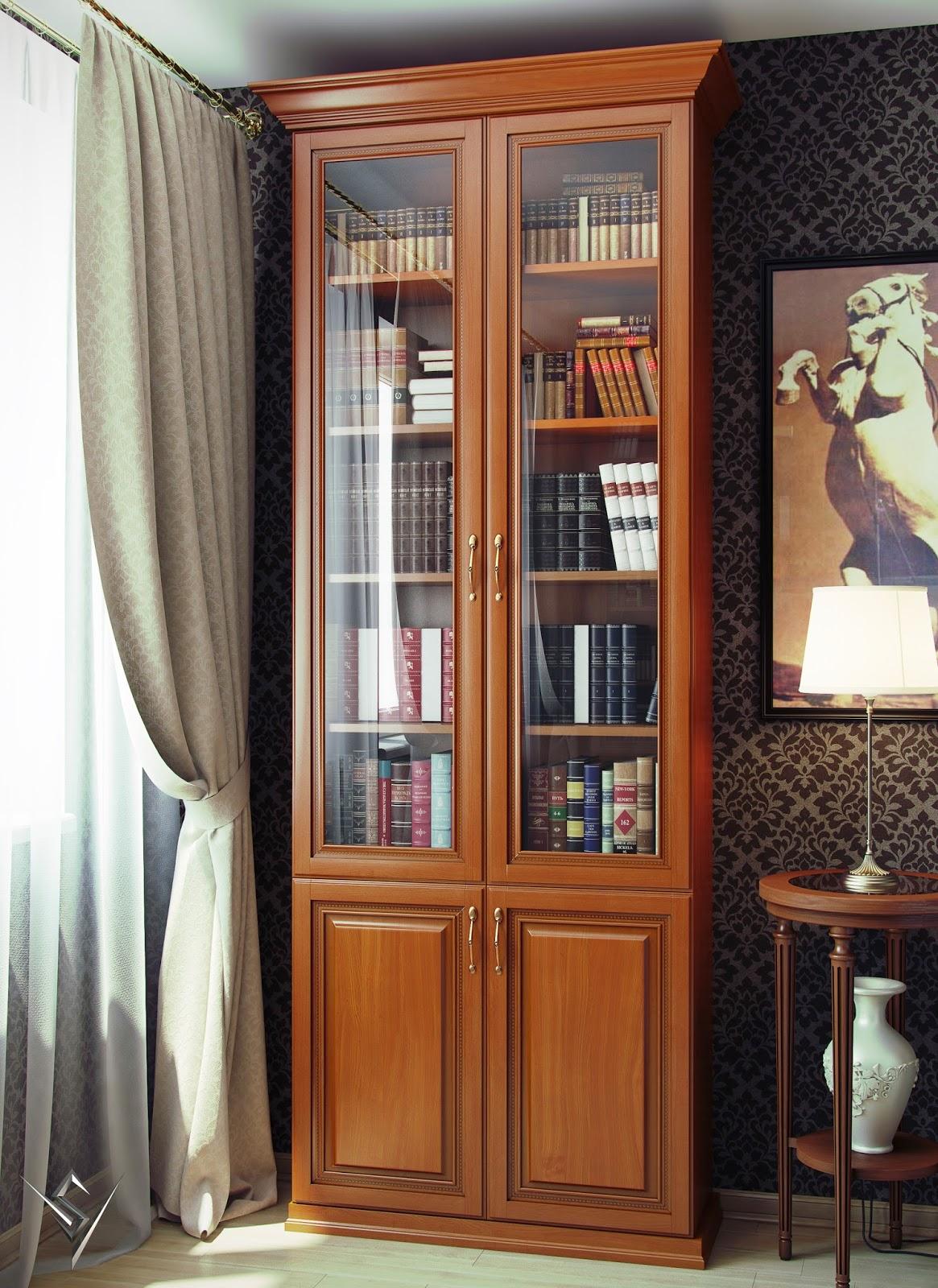 Книжный шкаф - незаменимый атрибут для современного интерьер.