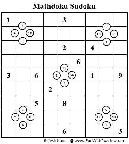 Mathdoku Sudoku (Daily Sudoku League #84)