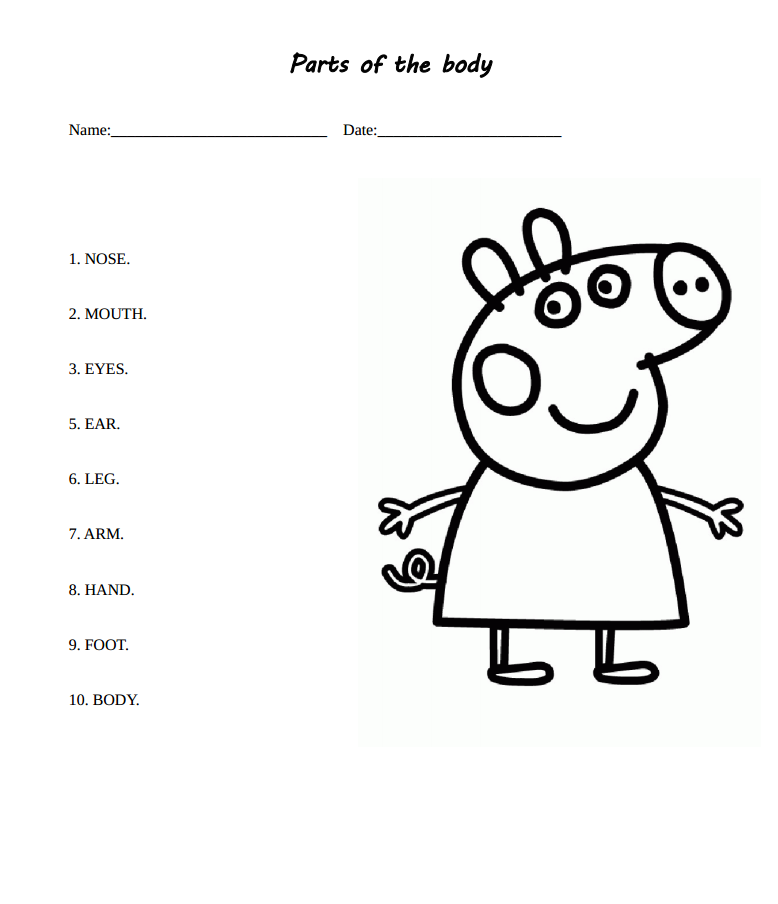 Let's Learn English: Learn the body with Peppa Pig!