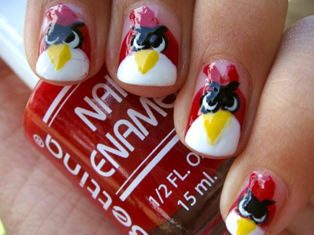 Posh for Polish: Angry Bird Nails!