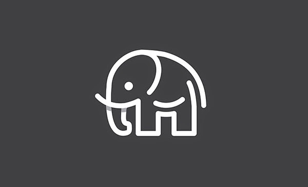 Overlapping technique Logo Elephant