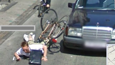 accidente captado por camaras de google street view