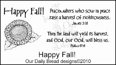 Our Daily Bread designs Happy Fall