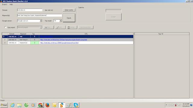 Hướng dẫn sử dụng phần mềm Seo Master Rank Checker V1.0 1