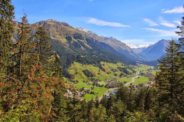 Widok na Klosters, Szwajcaria