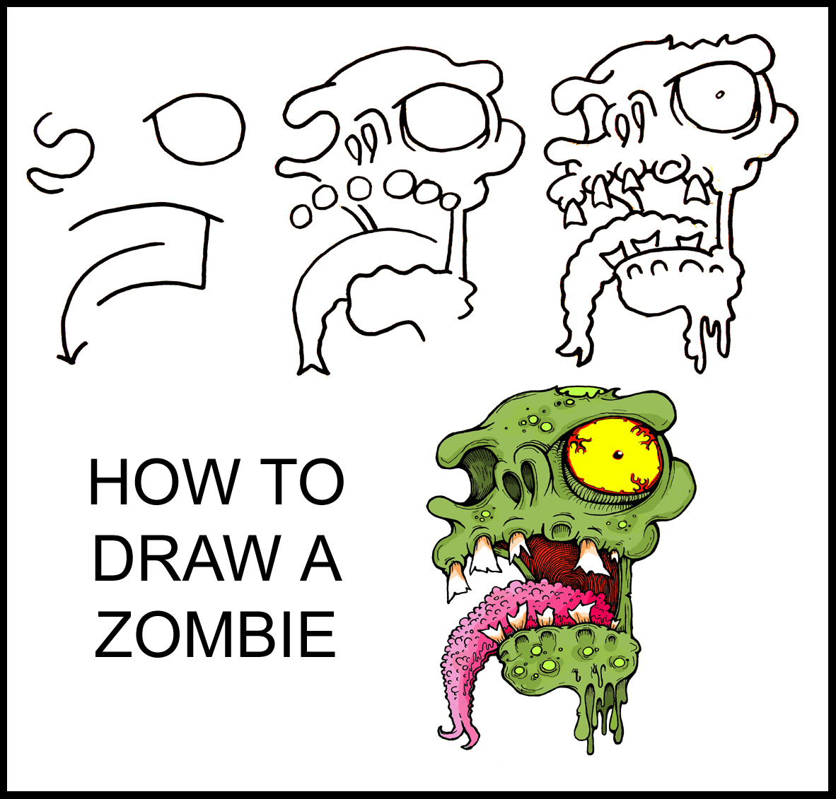 How To Draw A Zombie In 7 Easy Steps Babble