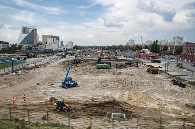 Baustelle Weiterbau und Verlängerung der A100, Grenzallee, 12057 Berlin, 23.04.2014