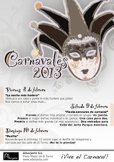 Carnavales 2013 en Alberjerte. Valle del Jerte.