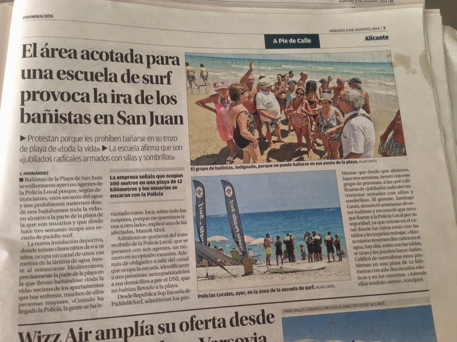 ira  bañistas  San Juan playa Alicante