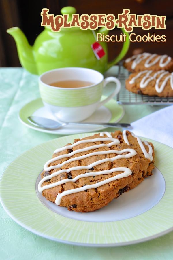 Molasses Raisin Biscuit Cookies