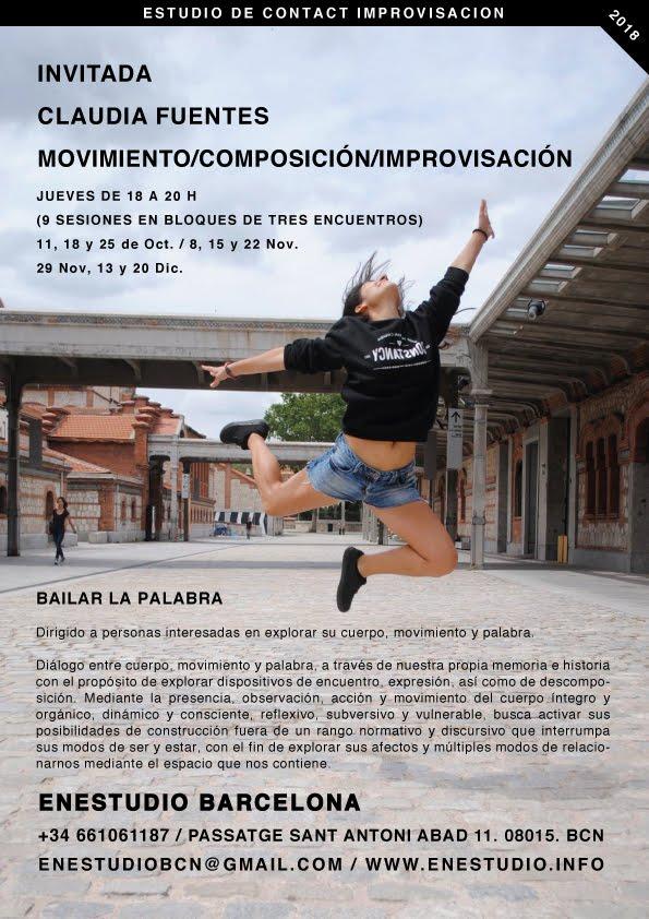 BAILAR LA PALABRA. Claudia Fuentes