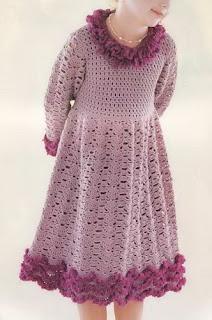 diversão e prazer: Vestidos de croche para crianças com gráfico