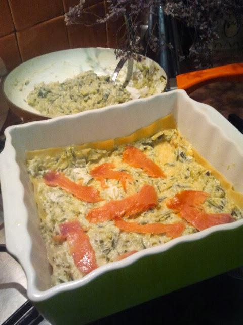 lasagne salmone e zucchine