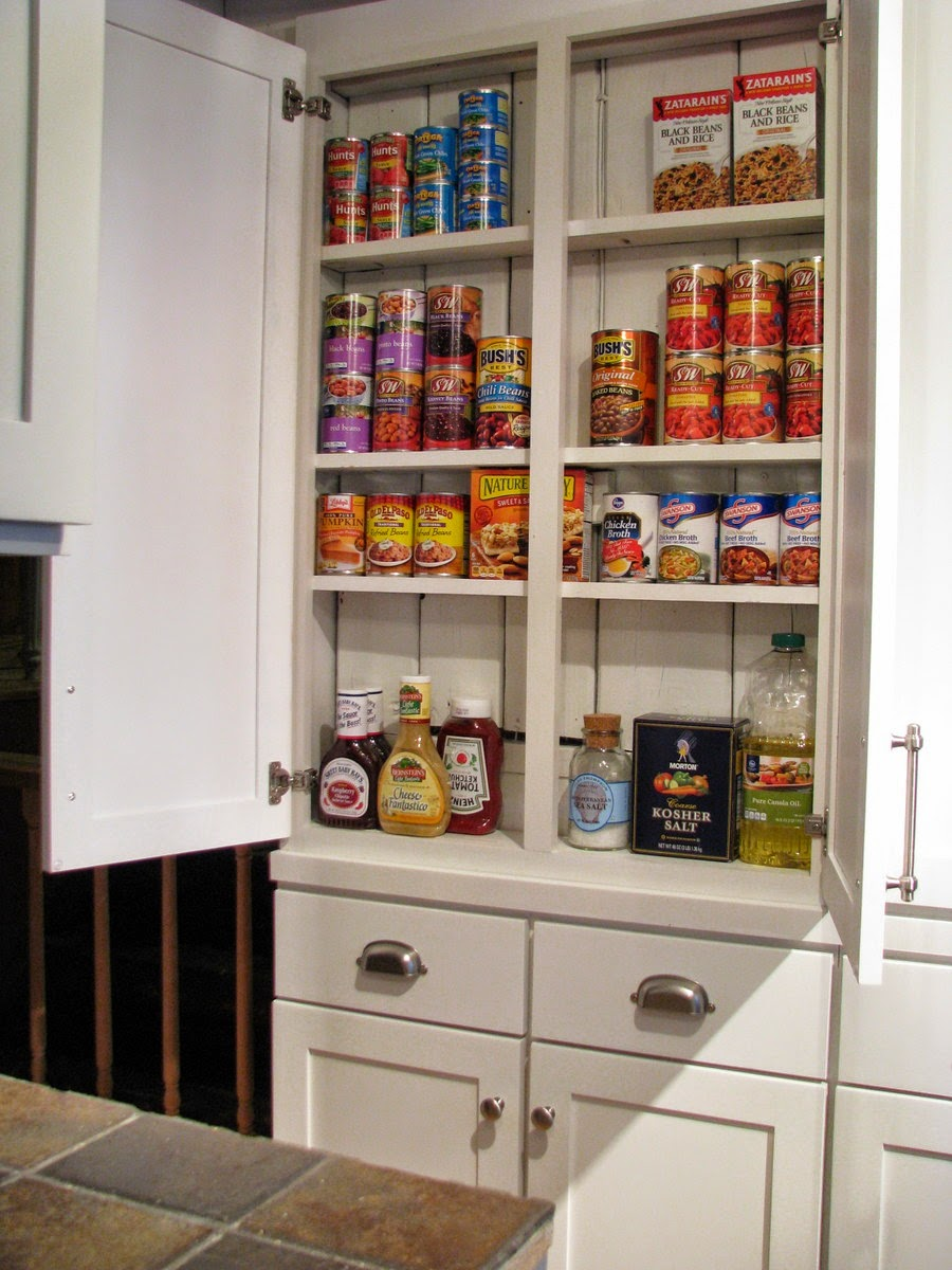 Medium image of build a shallow kitchen pantry cabinet