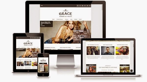 Top 10 Template Blog Responsif 6. Grace Responsive