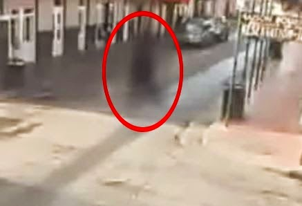 Giant Ghost Like Being Caught On New Orleans Street Cam