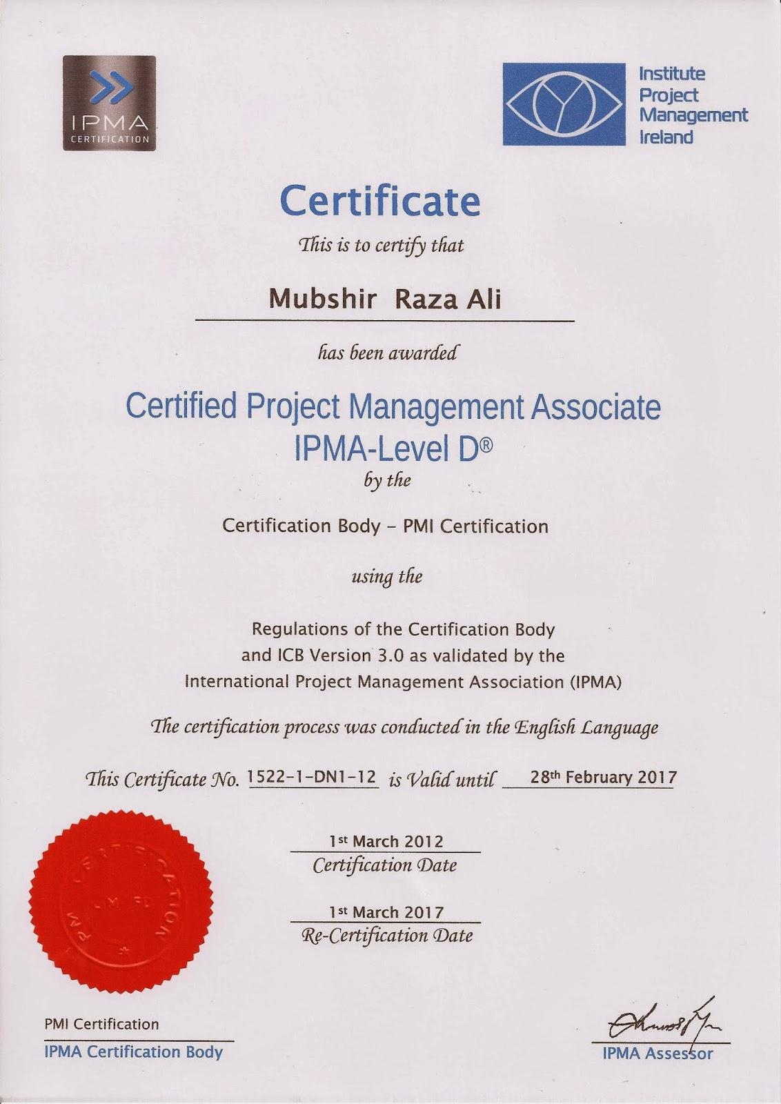Mubis blog just got ipma level d certification just got ipma level d certification 1betcityfo Image collections