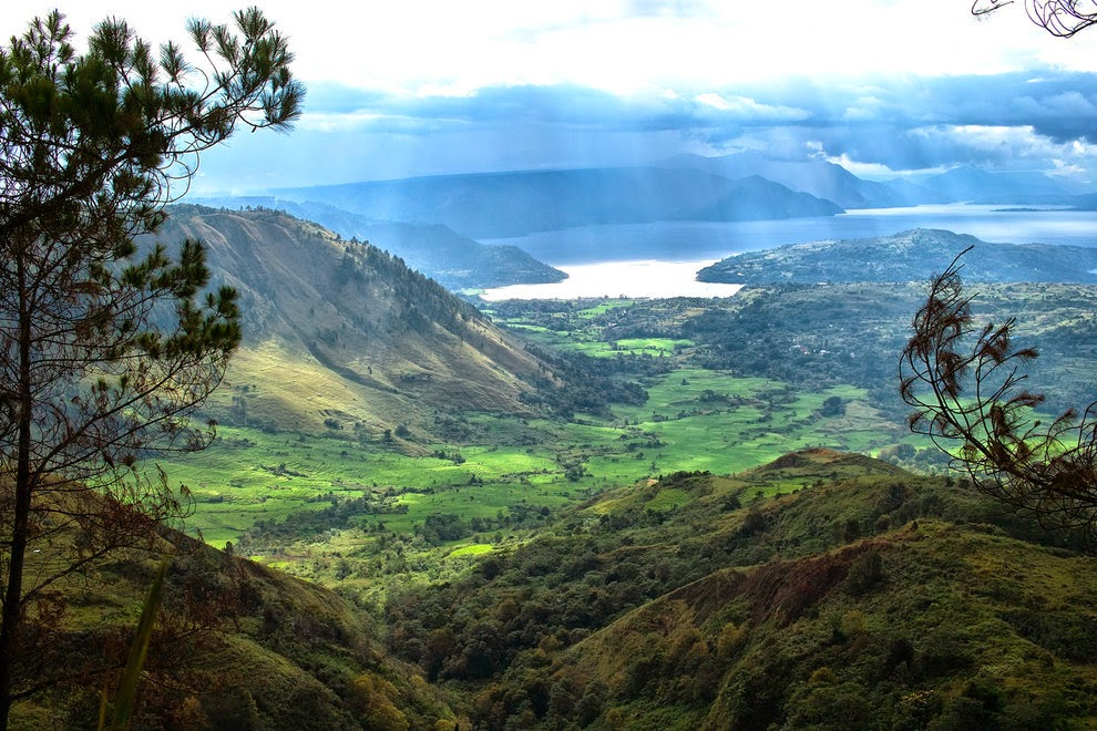 Beautiful Lake Toba in North Sumatra
