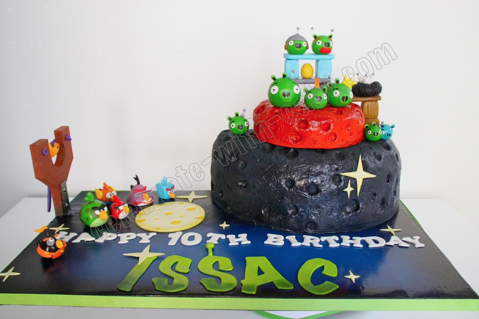 angry bird space cake