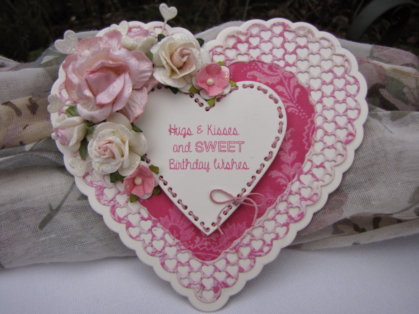 Handmade Cards Hearts i am on a Heart-shaped Card