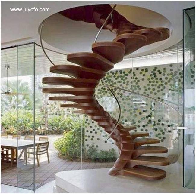 Escaleras de madera escaleras de madera de interior - Modelos de escaleras de caracol para interiores ...