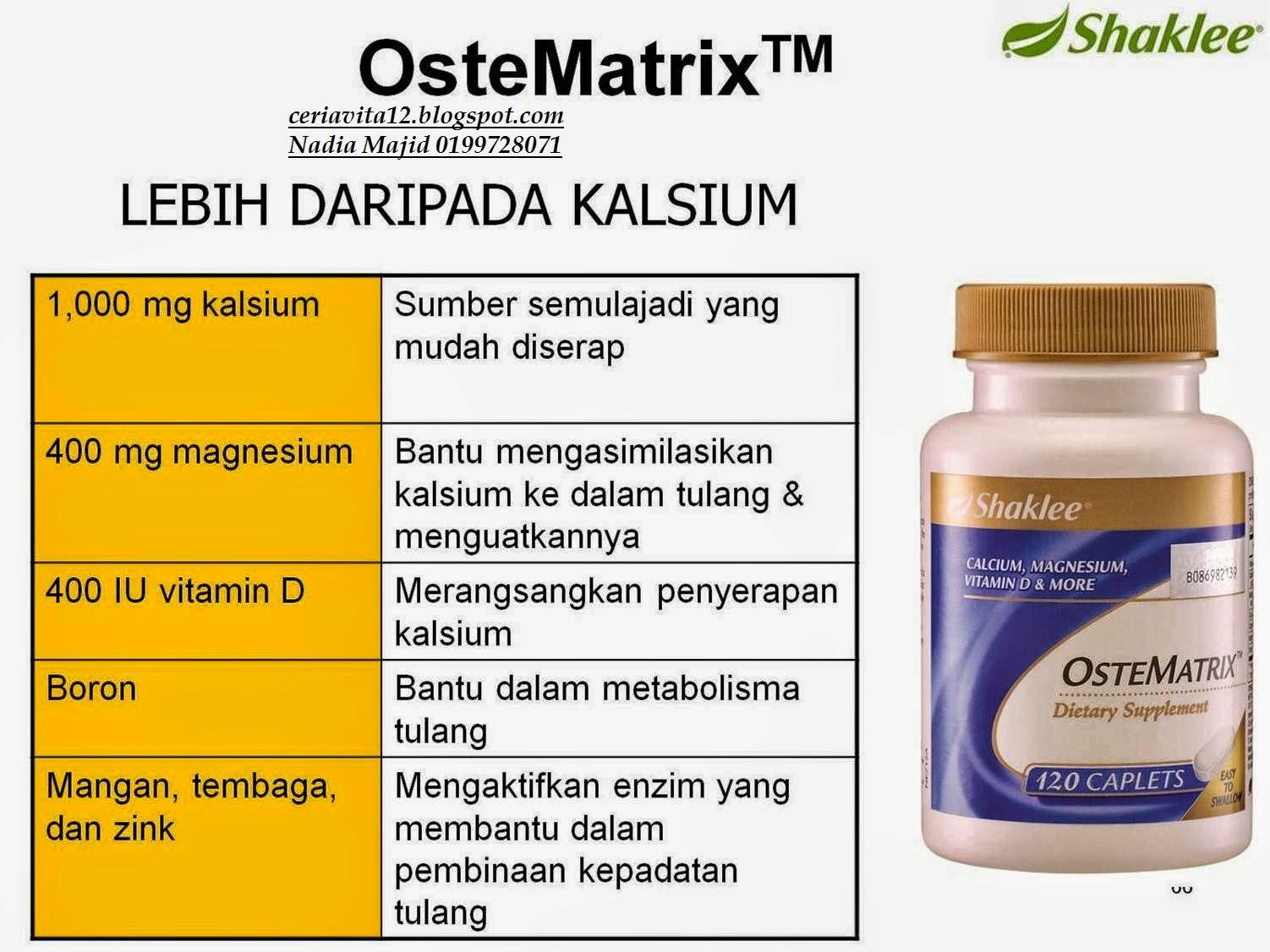 kelebihan ostematrix dengan kalsium jenama lain