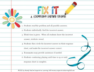 , Fix It – A Cooperative Learning Strategy