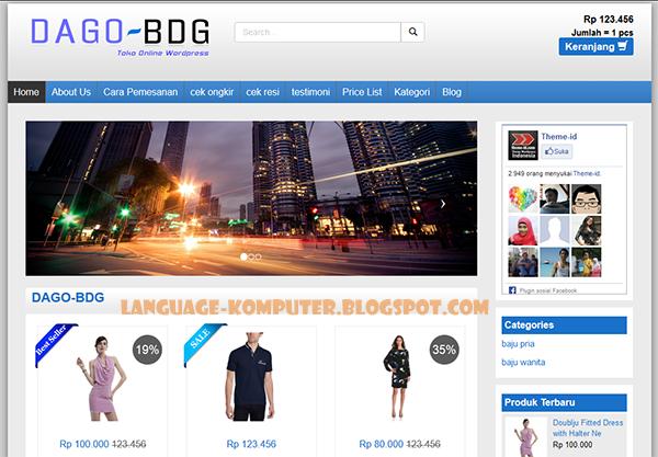 theme dago toko online