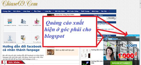 Tạo Code chèn popup quảng cáo ở góc phải cho blogspot