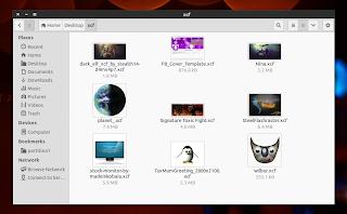XCF thumbnails Nautilus 3.8