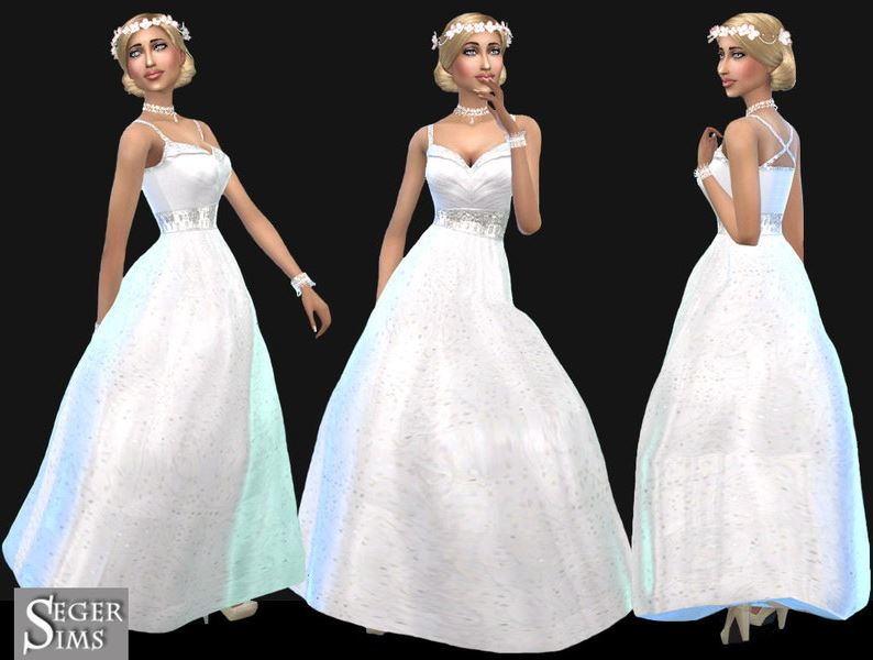 contenido personalizado sims 4 vestidos de novia